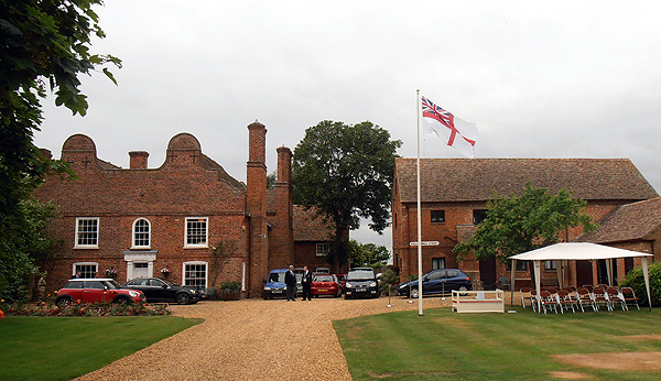 The RN Ensign flying at the High Sheriff's House