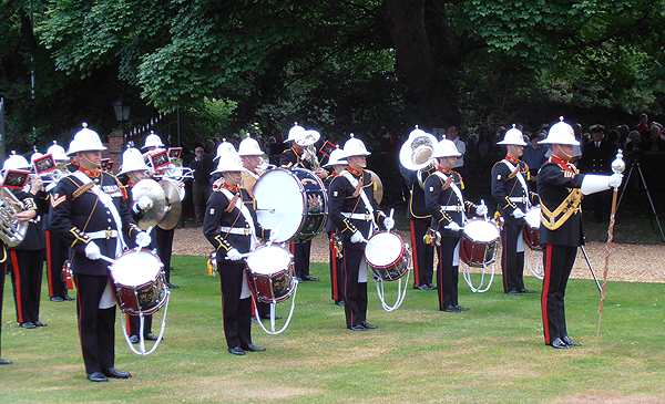 The RM Band of HMS Collingwood