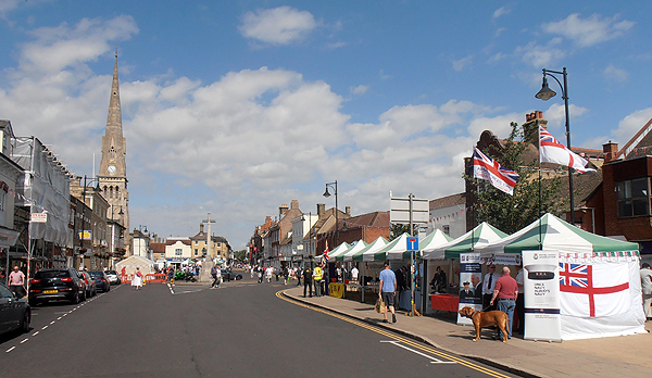 RNA, RBL, RAFA, and BLESMA stalls in the Town Centre