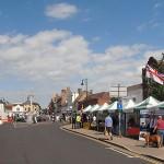 St Ives High Street, spot the RNA stall