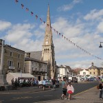 St Ives High Street on Armed Forces Day