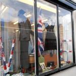 Shops put on a war theme window display