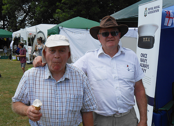 Shipmate Nino Crean is joined by his brother, William, at the Godmanchester Gala