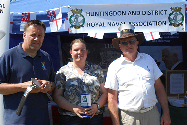 Shipmate Becky Murray checks in on shipmates Pete Aston and Nino Crean