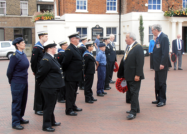 The Mayor of Huntingdon inspects the Sea Cadets
