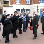 The Mayor inspecting the cadets