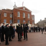 Inspecting the Sea Cadets