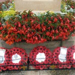 Community wreaths at the War Memorial