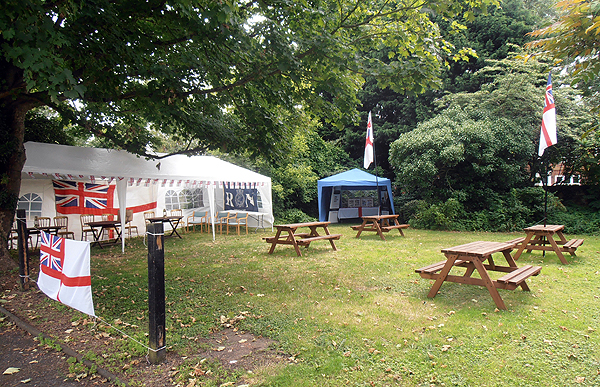 Gazebo and Bunting ready for the annual BBQ