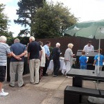 Queue for the BBQ food