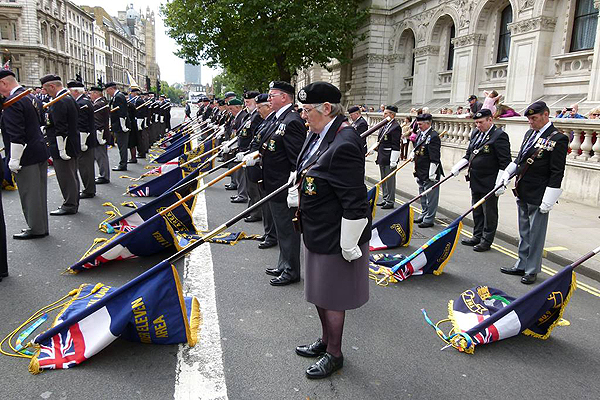Standard Bearers on parade (Photo: S/M Nigel Huxtable)
