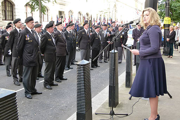 Penny Mordaunt MP thanks shipmates on completion of the Parade