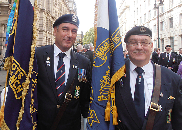Shipmates Karl Webb and Bill Small at the Biennial Parade
