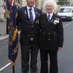 Shipmates Karl Webb and Ros Hastie-Murray (Tyne RNA)