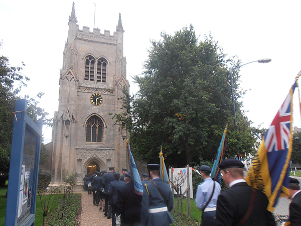 At the church for a short Service of Remembrance