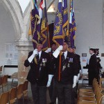 Standards arrive inside the Church
