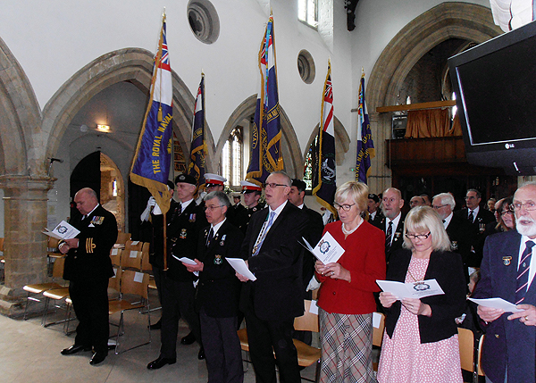The ceremony taking place in St mary's Church