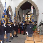 Branch Standard paraded in front of the congregation