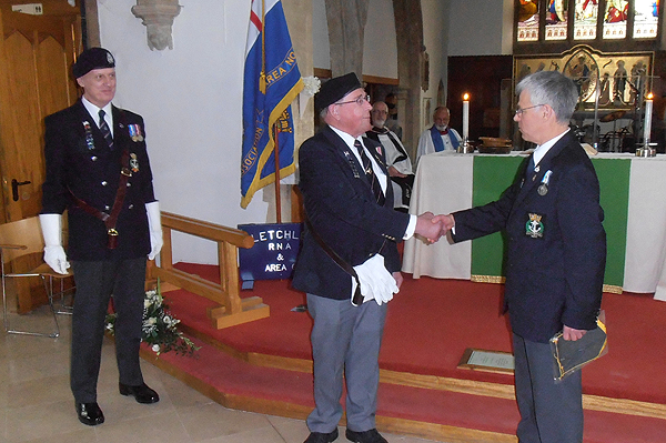 Bletchley RNA receiving a Branch plaque