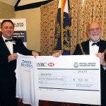 The Mayor of Godmanchester receives a cheque on behalf of Blesma, the Limbless Veterans Charity