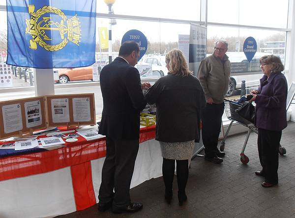 Chatting to shoppers and promoting the RNA