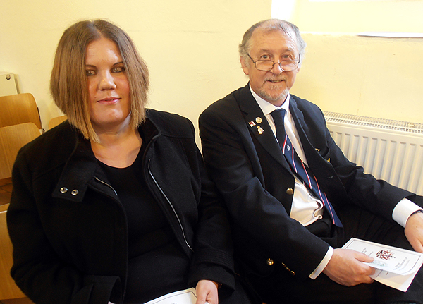 Shipmates Becky and Graham Murray attend the Service