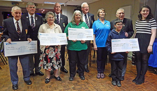 St Neots & District Branch: Annual donations to local good causes