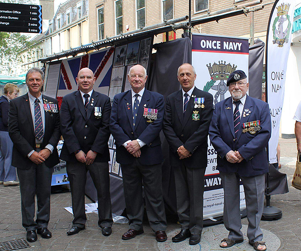 Shipmates Brian Hall, Dave Cair, Richard Underhill, Nigel Wilson and Tony Portman