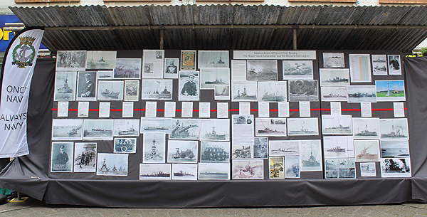 Newton Abbot's display consisted of a timeline of events, Ships lost and casualties from both Fleets