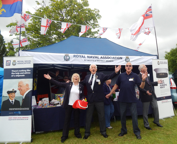 Shipmates from St Neots celebrate the commissioning of their new gazebo