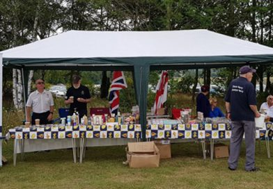 RNA Royston Branch charity stall and tombola
